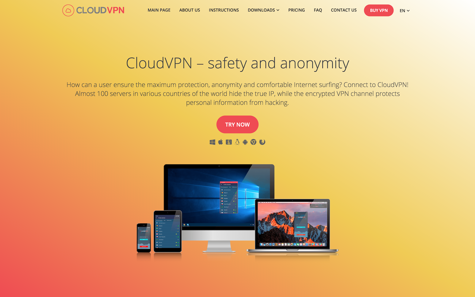 Buy a VPN server from the CloudVPN service  Tariffs for VPN for PC